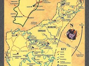 Hluhluwe Imfolozi map