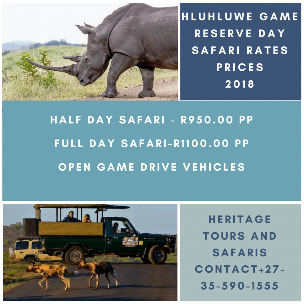 Hluhluwe Game Reserve Gate Opening Times 2018